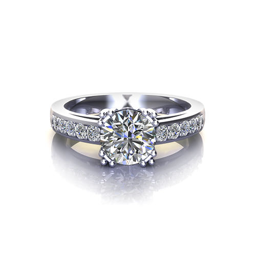 Retro Fishtail Engagement Ring