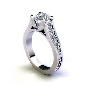 Tapered Channel Engagement Ring