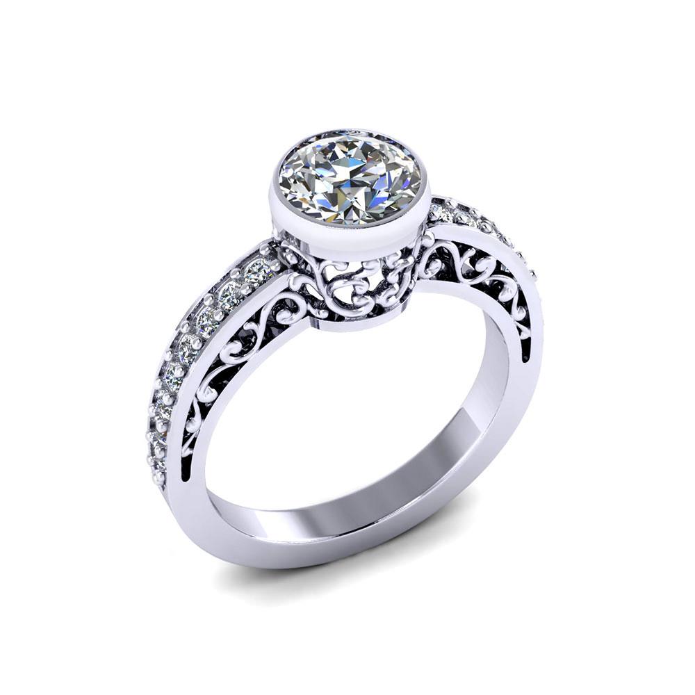 filigree bezel engagement ring jewelry designs