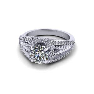 Leaf Engagement Ring