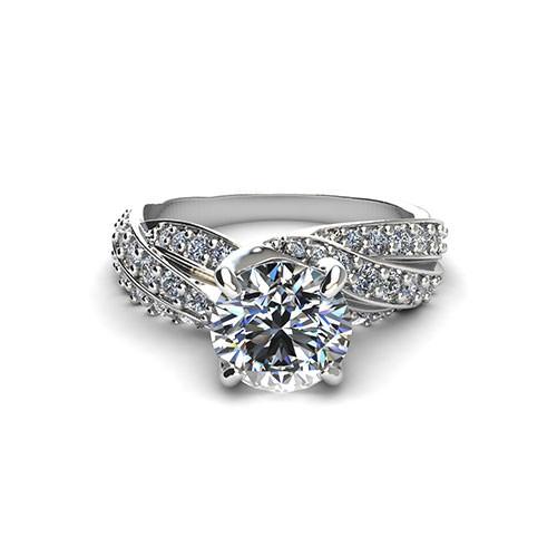 Swirl Engagement Ring
