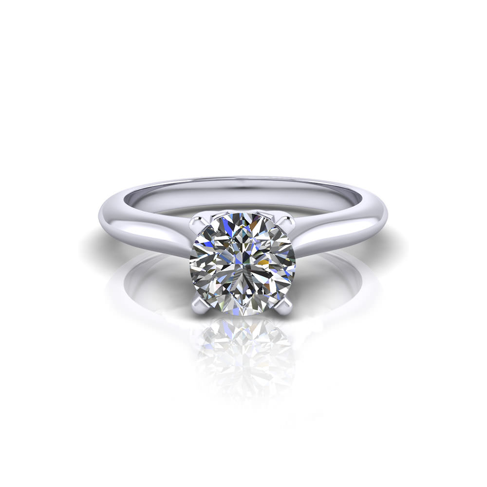 Lattice Solitaire Engagement Ring top view
