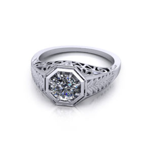 Vintage Deco Engagement Ring
