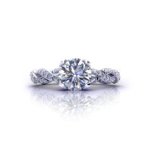 Diamond Infinity Engagement Ring