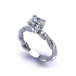 Diamond Infinity Engagement Ring