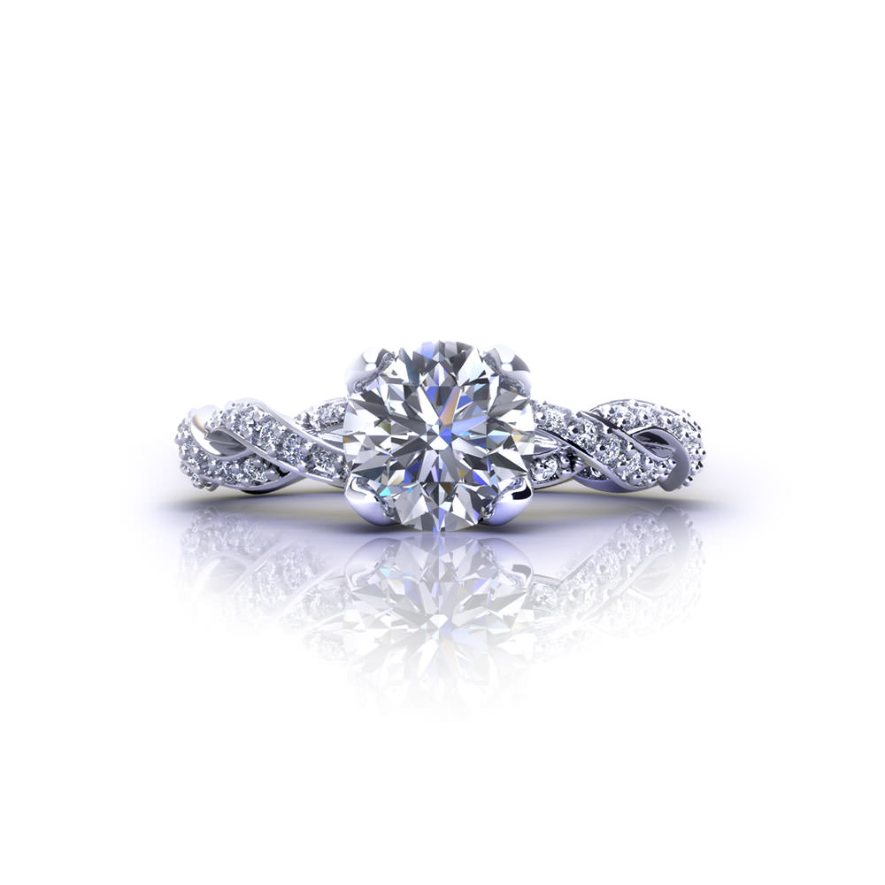 Diamond infinity engagement ring jewelry designs for Infinity design wedding ring