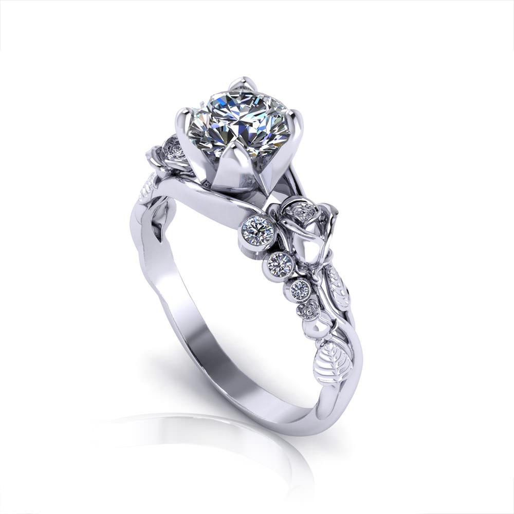 Floral Custom Engagment Rings