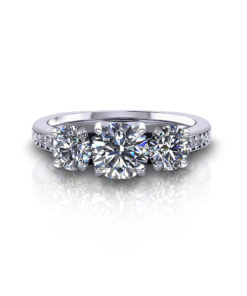 Classic Three Stone Engagement Ring