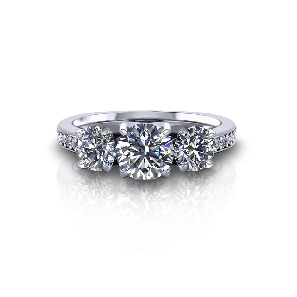Stone Wedding Rings Classic Three Stone Engagement Ring Jewelry Designs