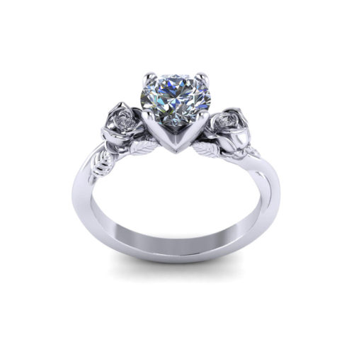Delicate Rose Engagement Ring