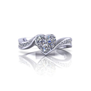 Heart Shape Diamond Engagement Ring