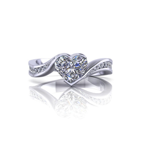 Heart engagement rings jewelry designs product heart shape diamond engagement ring junglespirit Image collections
