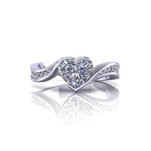Heart Shape Diamond Engagement Ring