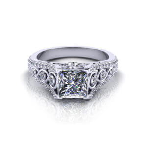 Beautiful Princess Engagement Ring