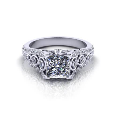 Beautiful Princess Engagement Ring