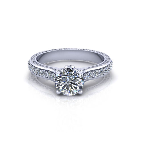 Four Prong Engagement Ring