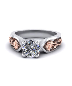 Diamond Rose Engagement Ring