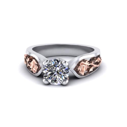 Diamond Rose Engagement Ring