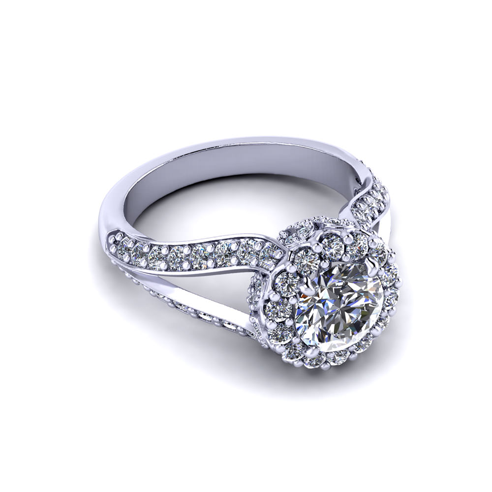intricate round halo engagement ring jewelry designs. Black Bedroom Furniture Sets. Home Design Ideas