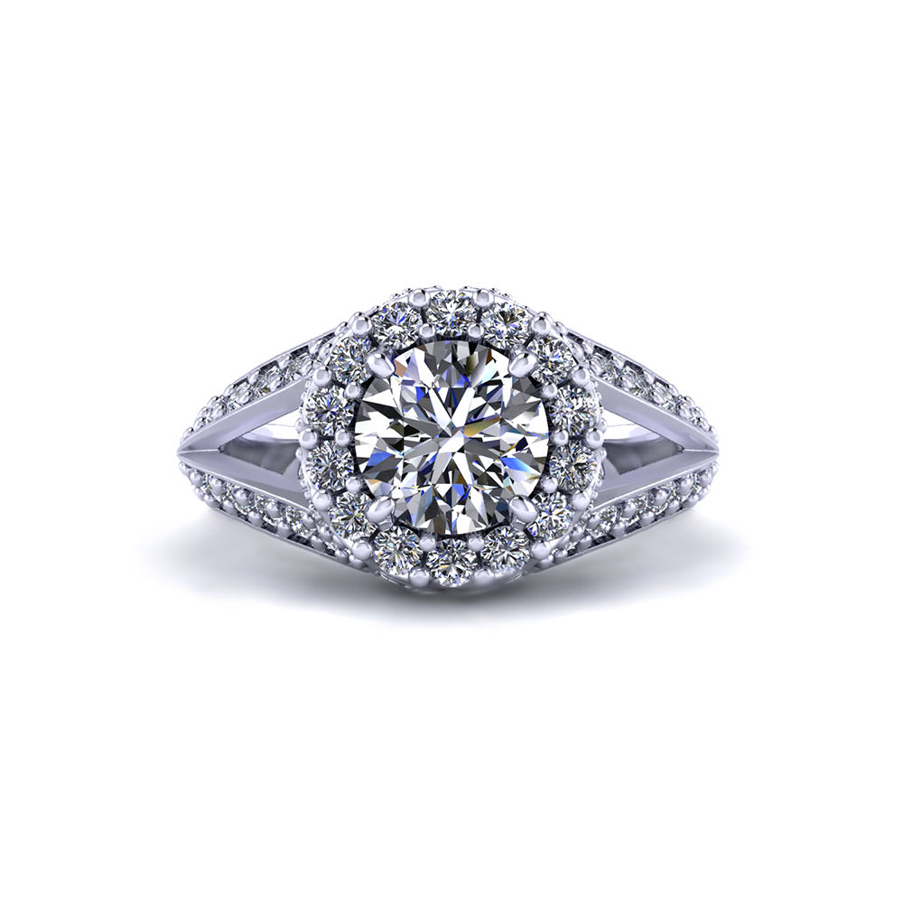 Intricate Round Halo Engagement Ring Jewelry Designs