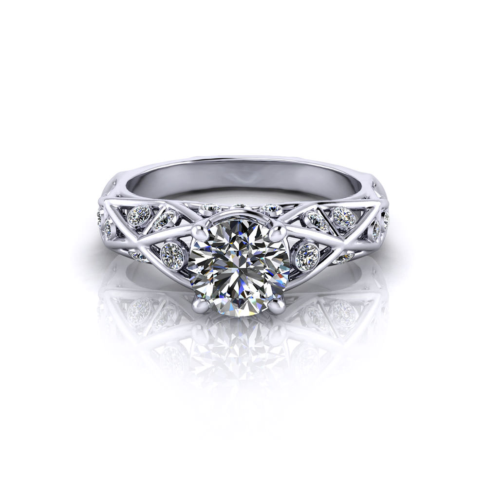 Geometric diamond engagement ring jewelry designs for Geometric wedding ring