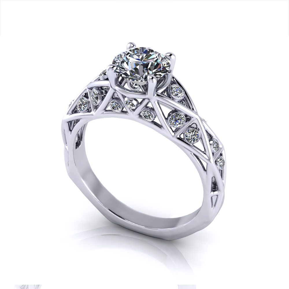 tacori rings ring engagement geometric dantela