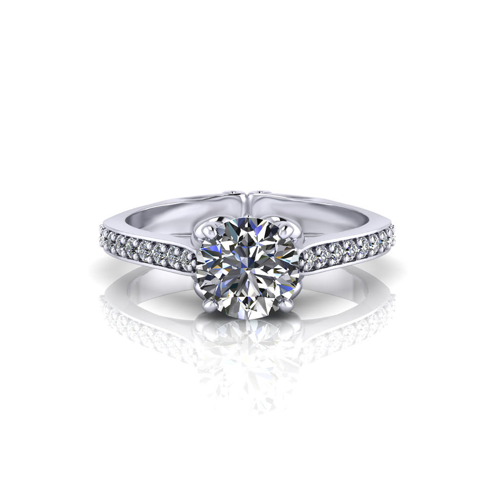 Whimsical Prong Engagement Ring