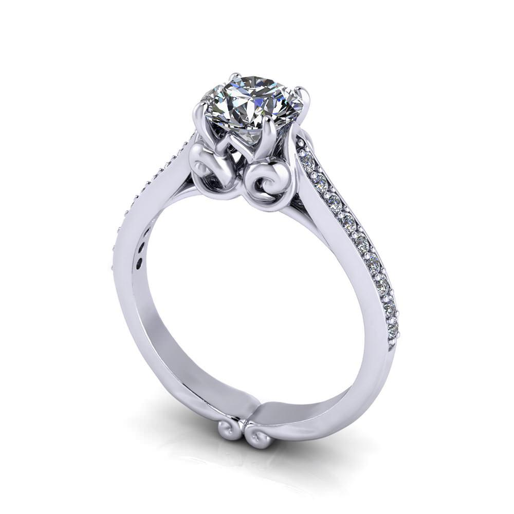 Whimsical G Engagement Ring