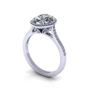 Halo Oval Diamond Engagement Ring