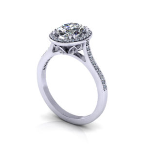 Halo Oval Diamond Engagement Ring