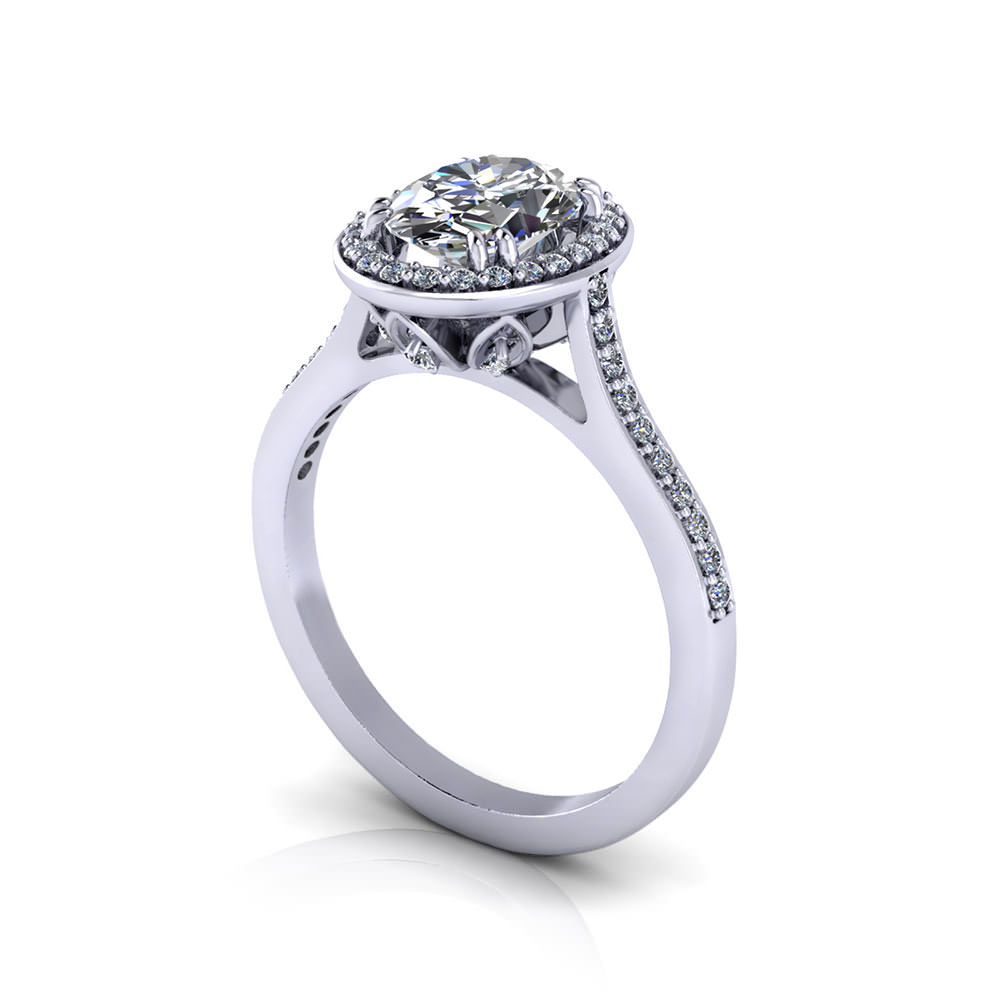 Halo Oval Diamond Engagement Ring Jewelry Designs