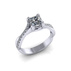 Princess Crossover Engagement Ring