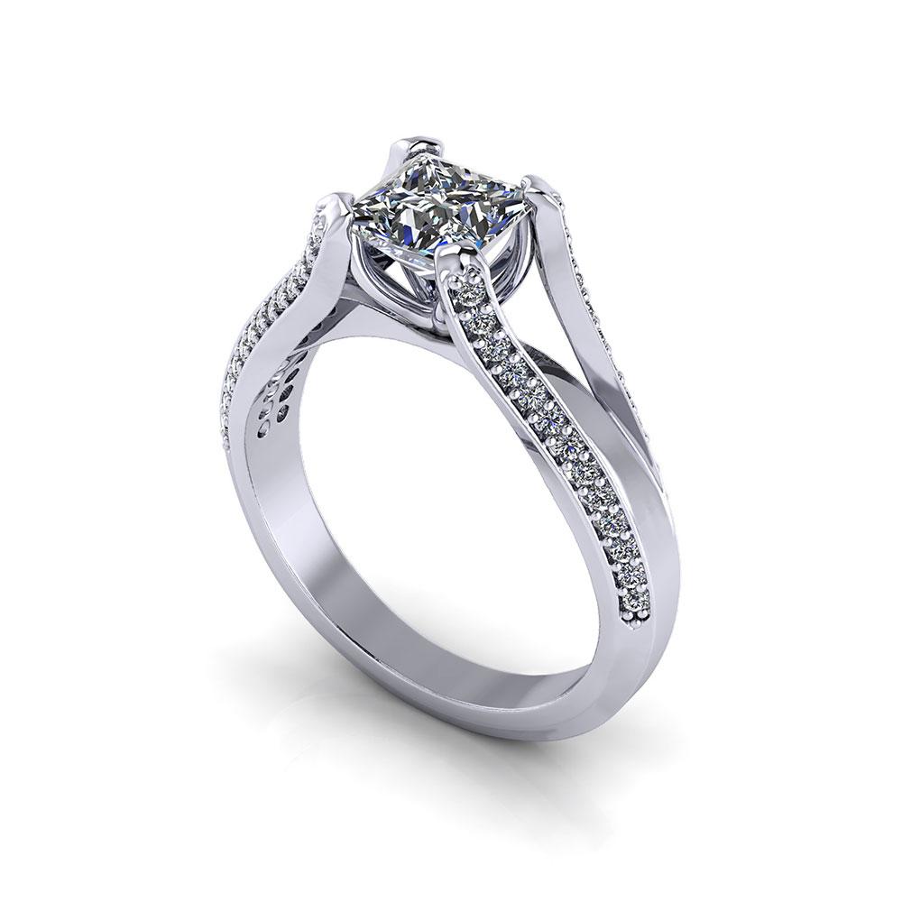 Bridged Princess Engagement Ring