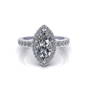 Halo Marquise Engagement Ring