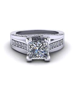 Princess Trellis Engagement Ring