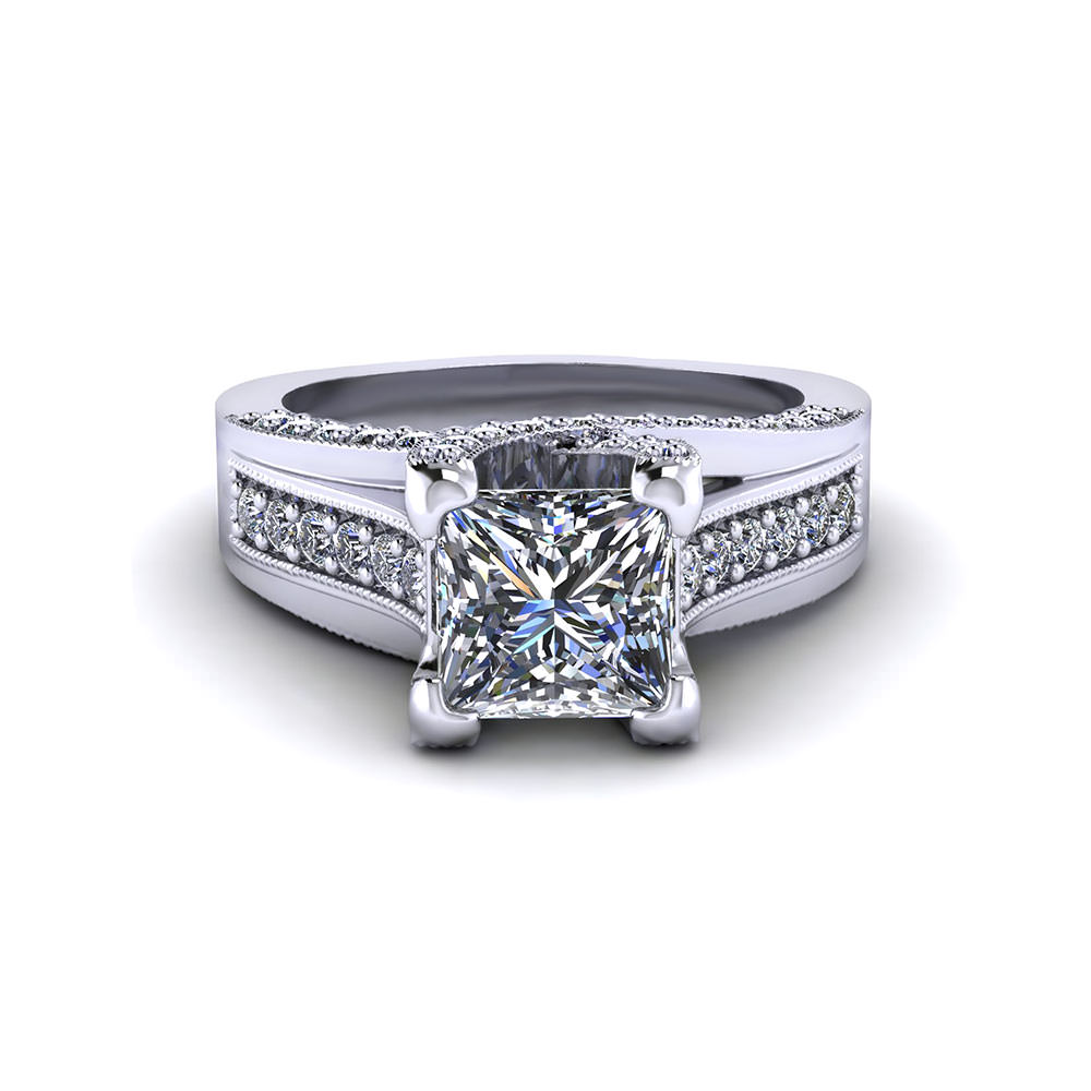 Princess Trellis Engagement Ring