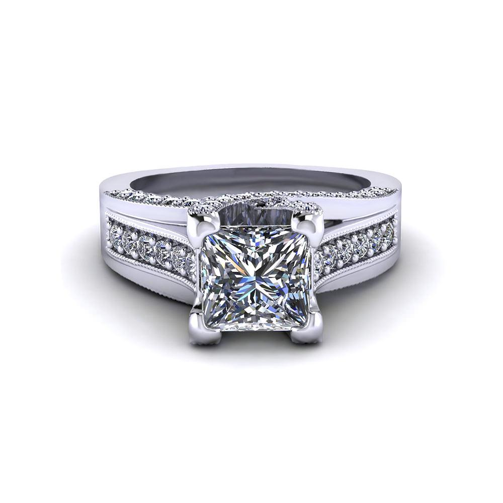Princess Trellis Engagement Ring Jewelry Designs