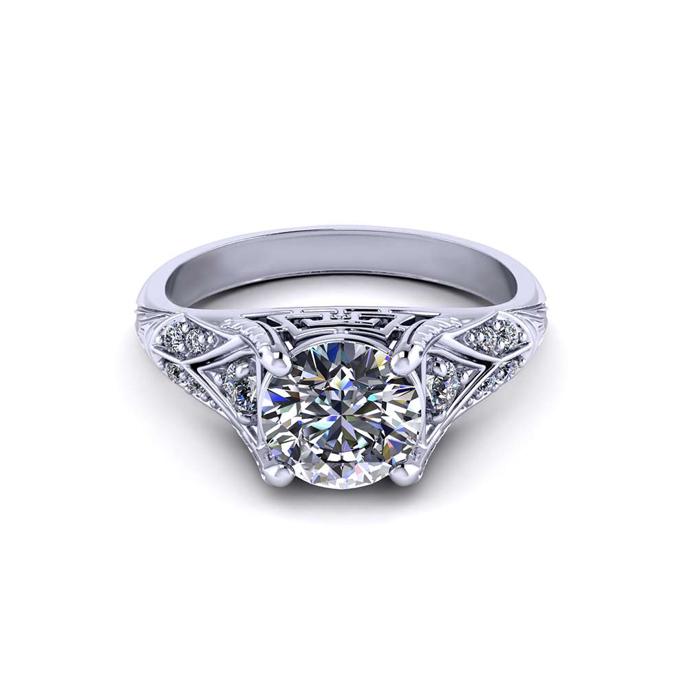Artfully Crafted Engagement Ring
