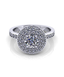 Circle Pave Engagement Ring