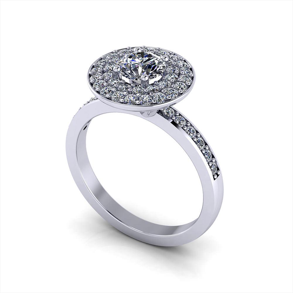 Circle Pave Engagement Ring