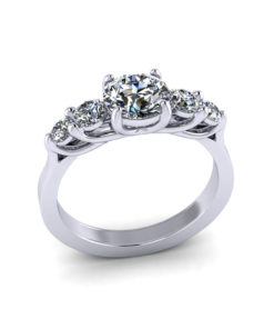Five Stone Trellis Ring