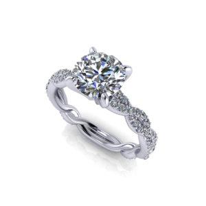 Carat Round Infinity Engagement Ring