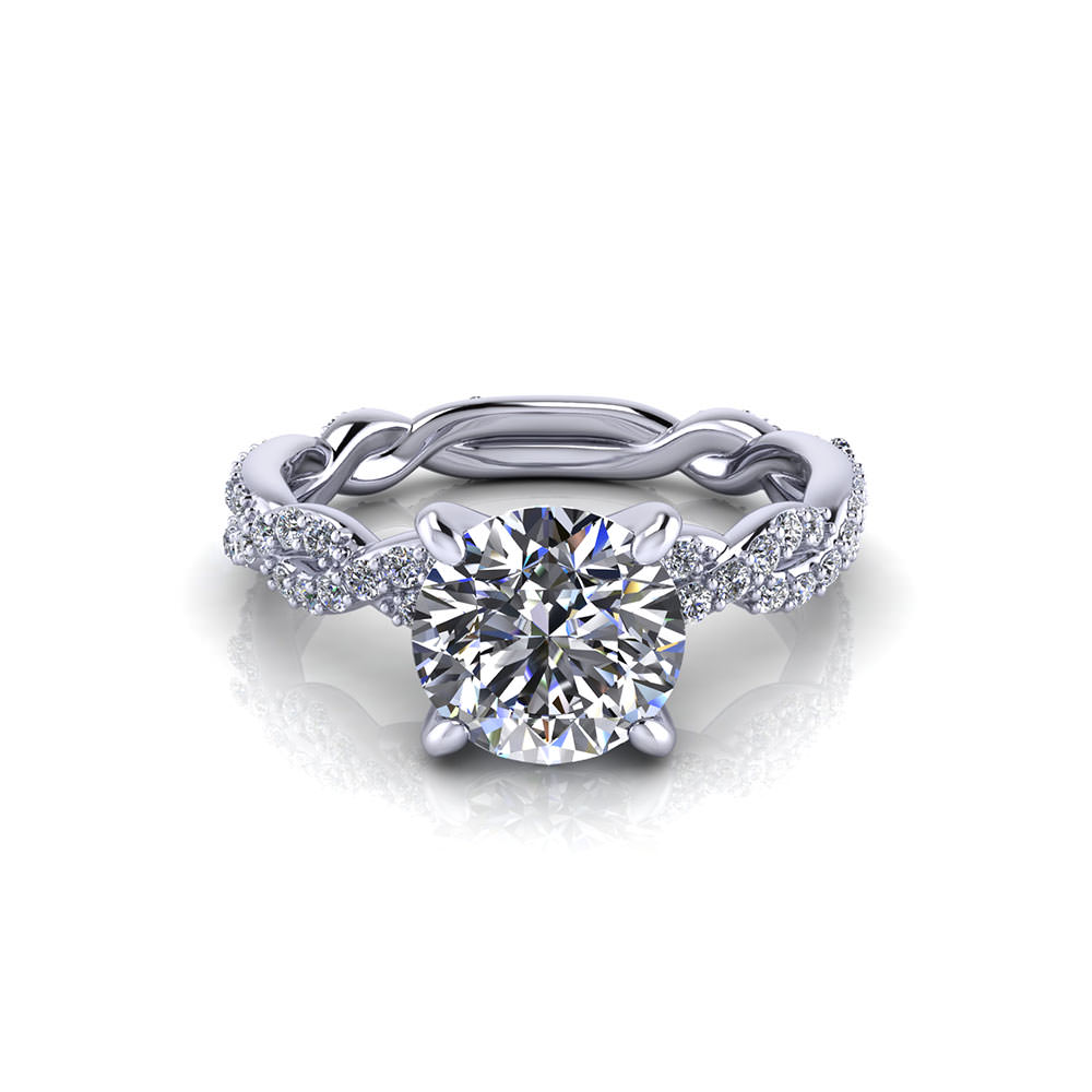 Carat round infinity engagement ring jewelry designs for Infinity design wedding ring