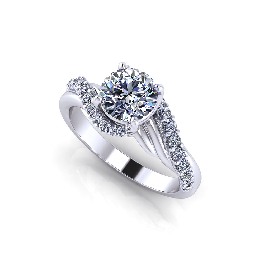 Images Of Engagement Rings: Bypass Engagement Ring