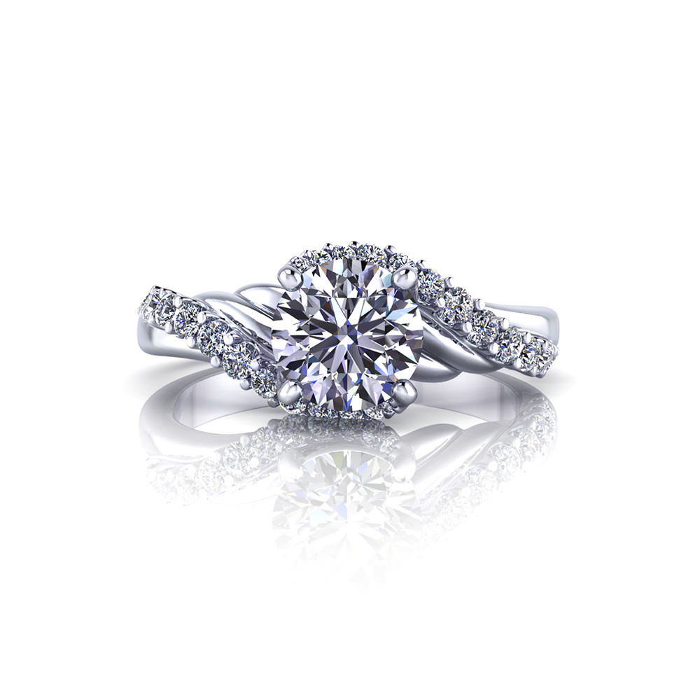 see all engagement rings round engagement rings halo engagement rings