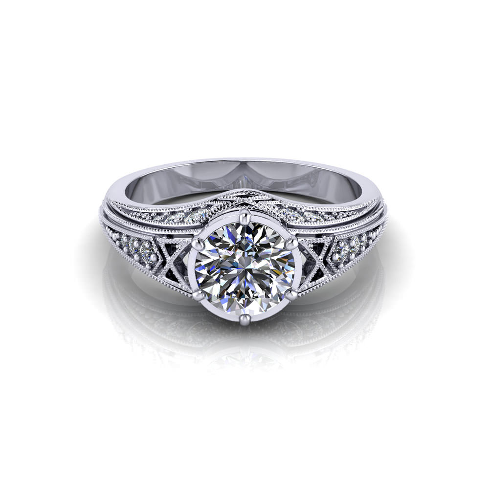 Round Filigree Engagement Ring Jewelry Designs