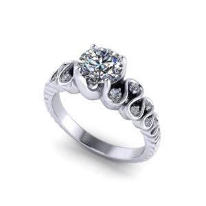 Ribbon Engagement Ring