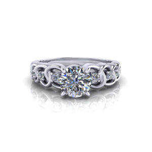 Diamond Link Engagement Ring