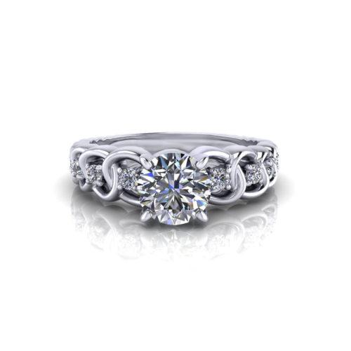 Diamond Link Engagement Ring
