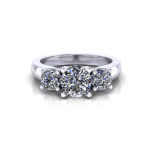 Trellis Three Diamond Ring